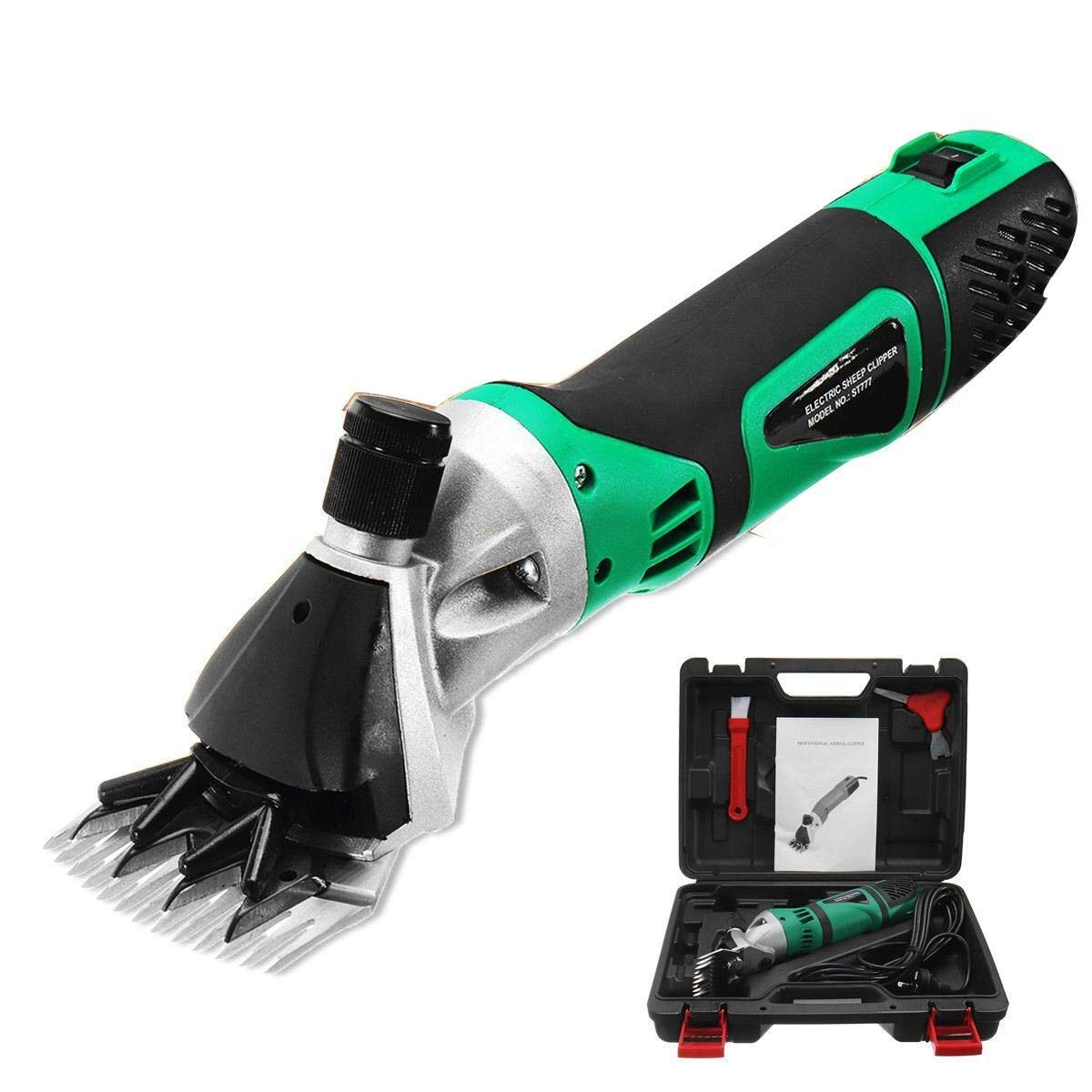 Electric Sheep Shearing Clipper 500W Electric Animal Grooming Clippers - Sheep Cutter Goat Clipper Ideal for Sheep Goat Dog Pet - Alpaca Hair Cut Farm Machine Tool 220V(13 Straight Teeth) by XGG-tool