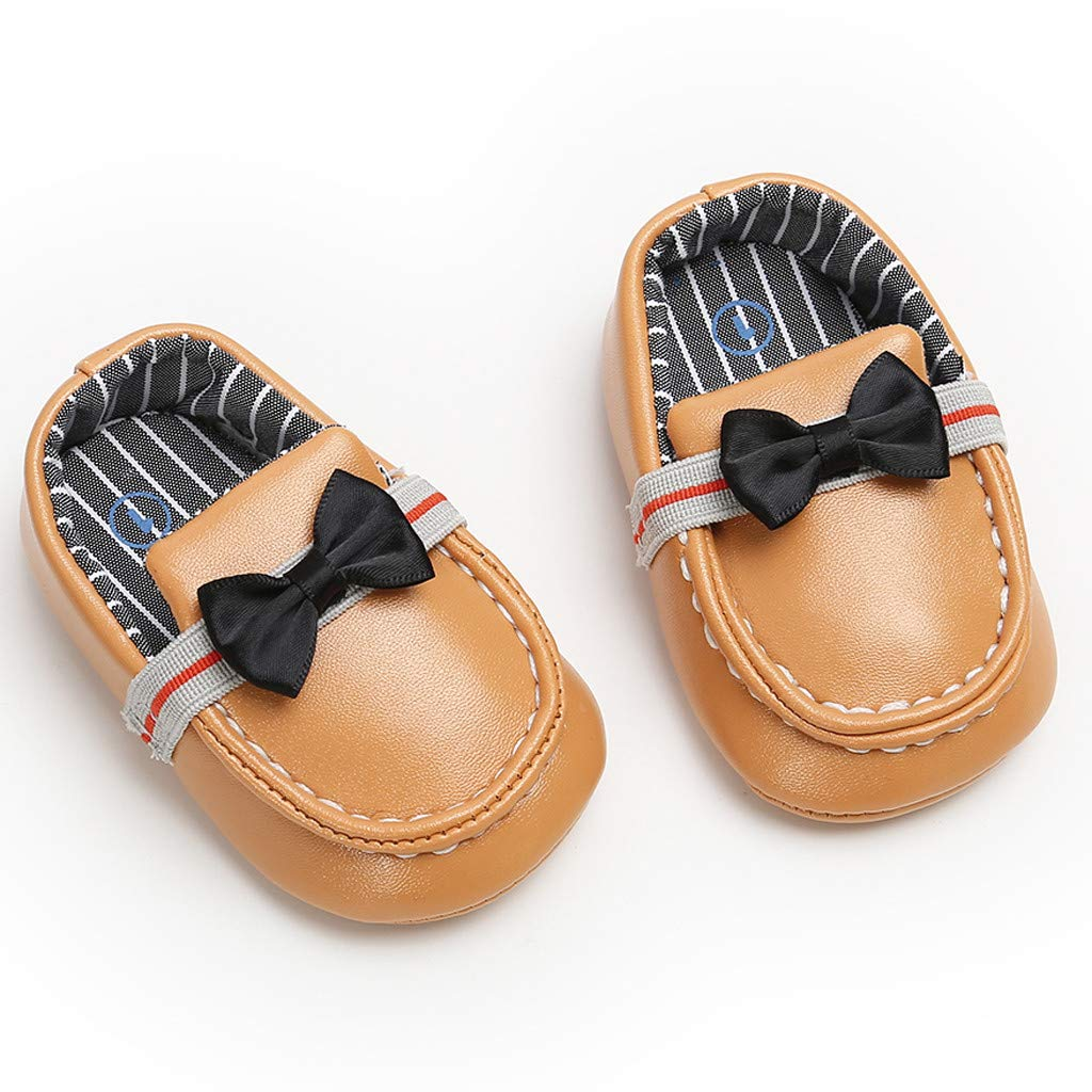 Ecosin Fashion Baby Kids Leather Bow Striped Shoes Fashion Toddler 2019 100/% Soft Spring Kid Shoes