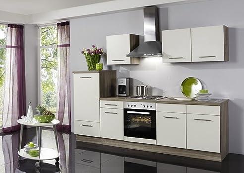 Küchenzeile Wiebke inkl. Elektrogeräte und Ceranfeld, 270 cm ...