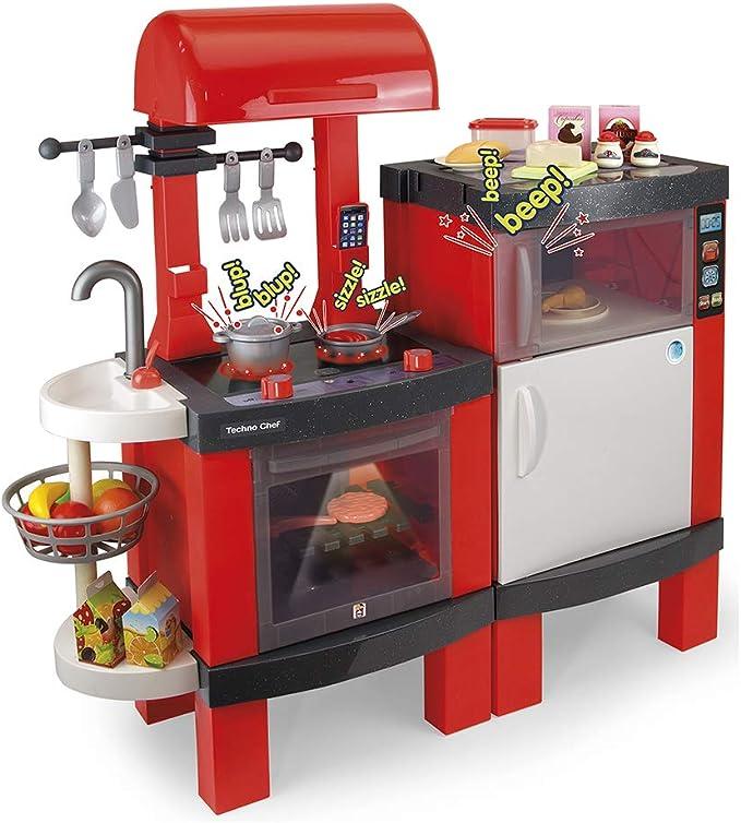 Chicos- Techno Chef Kitchen, Cocinita Infantil con Sonido y Luces, Incluye 31 Accesorios, a Parti...