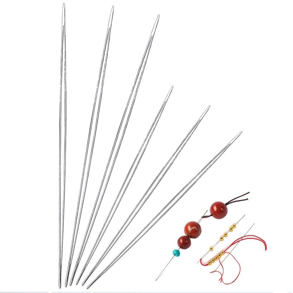 SAMAJU 6 Pieces Beading Needles, 2 Sizes Big Eye Beading Needles Easy Thread Sewing Needles SUMAJU 4336813374