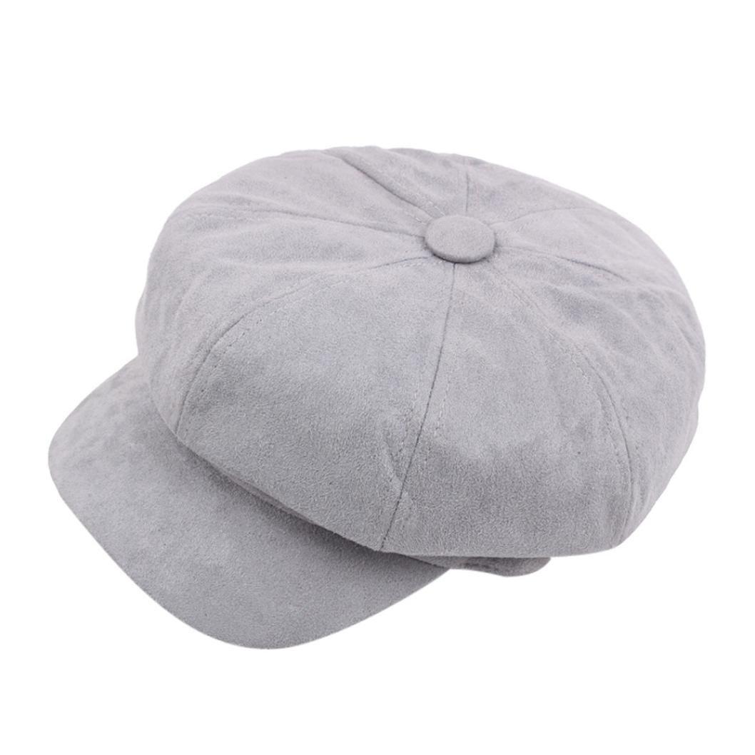 Women Ladies Octagonal Hat newsboy Cabbie Bakerboy Visor Peaked Casual Winter Warmer Hat Vintage Berets Hat