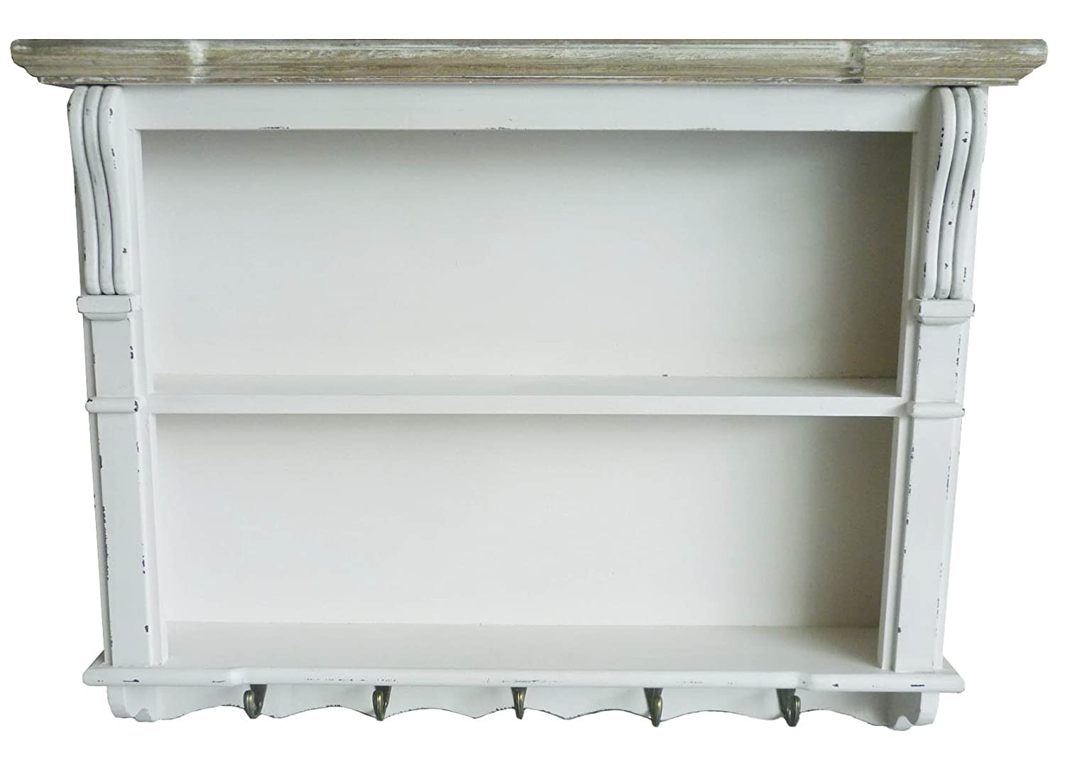 Charles Bentley White Shabby Chic Kitchen Dining Room Wall Shelving Display Unit Dresser Top Shelf Plate Rack Matching Pieces Available Amazoncouk