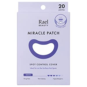 Rael Acne Pimple Healing Patch - Large Spot Control Cover, Long Size, Hydrocolloid Strip for Breakouts, Extra Coverage Acne Patch (20 Count)