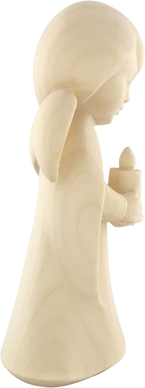 Hauteur /égale /à 11/cm. Ferrari /& arrighetti Ange r/êveur avec Bougie/ /Sculpture en Bois Peinte /à la Main