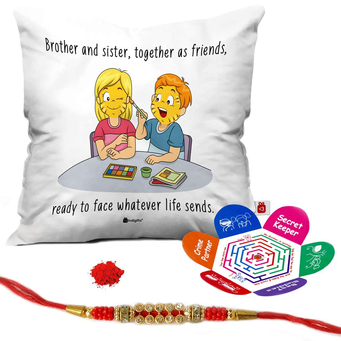 Indi ts Rakhi Gifts for Brother Set of Siblings as Best
