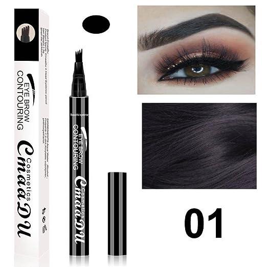 b0d8f0c14d2 Inverlee 3Pcs Waterproof Eye Brow Eyeliner Eyebrow Pen Pencil with Brush  Makeup Cosmetic (01)