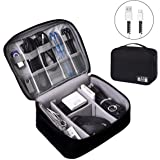 Electronics Organizer, OrgaWise Electronic Accessories Bag Travel Cable Organizer Three-Layer for iPad Mini, Kindle…