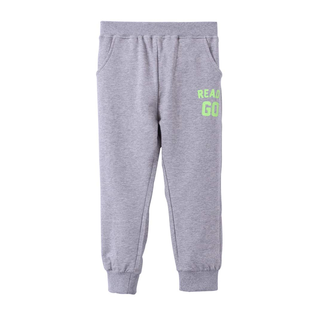 IRELIA Kids Sweatpants 3 Pack Cotton Solid Jogger Pants for Spring Fall
