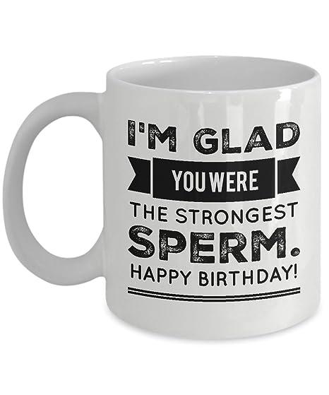 Amazon.com: Cumpleaños – Taza de calidad I m Glad You Were ...