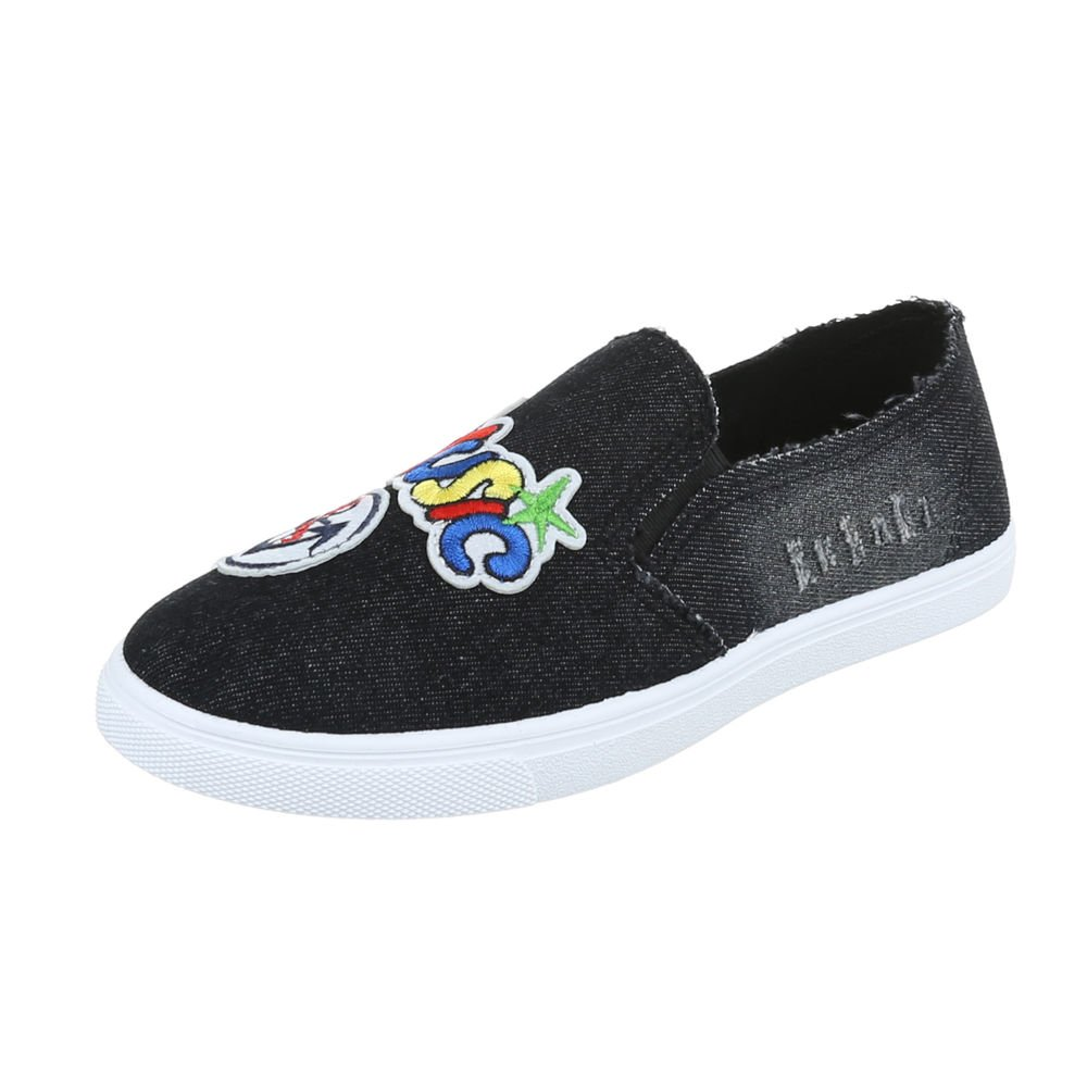 Ital-Design Slipper Damenschuhe Halbschuhe Schwarz FCV2032018 Letztes Modell  Mode Schuhe Billig Online-Verkauf