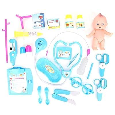 25PCS Doctor Medical Toy Doctor Nurse Niños Niños Juego de Roles Juego de Simulación Set Juguetes de Educación Temprana: Juguetes y juegos