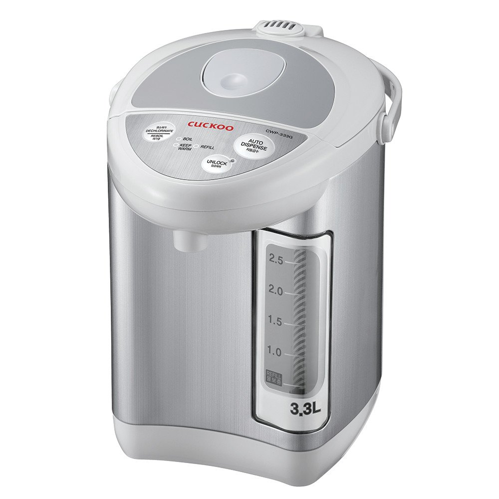 Cuckoo CWP-333G Auto Water Dispenser, 11.6 x 12.4 x 8.7 inches, Gray