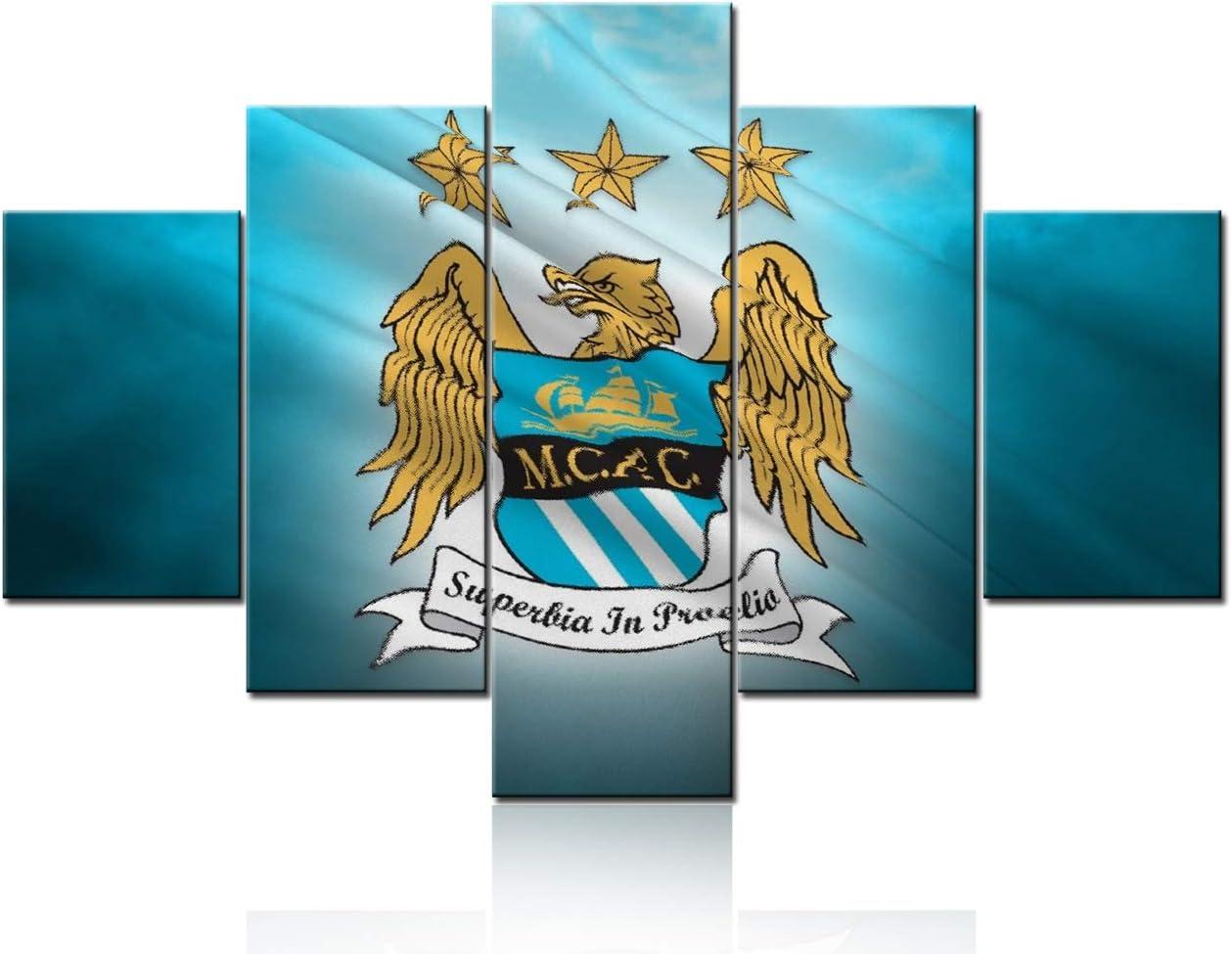 5 Piece Canvas Wall Art of Manchester City FC Football Club