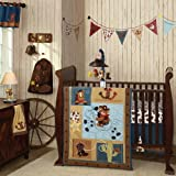 Giddy Up 6 Piece Baby Crib Bedding Set with Bumper by Lambs and Ivy, Baby & Kids Zone