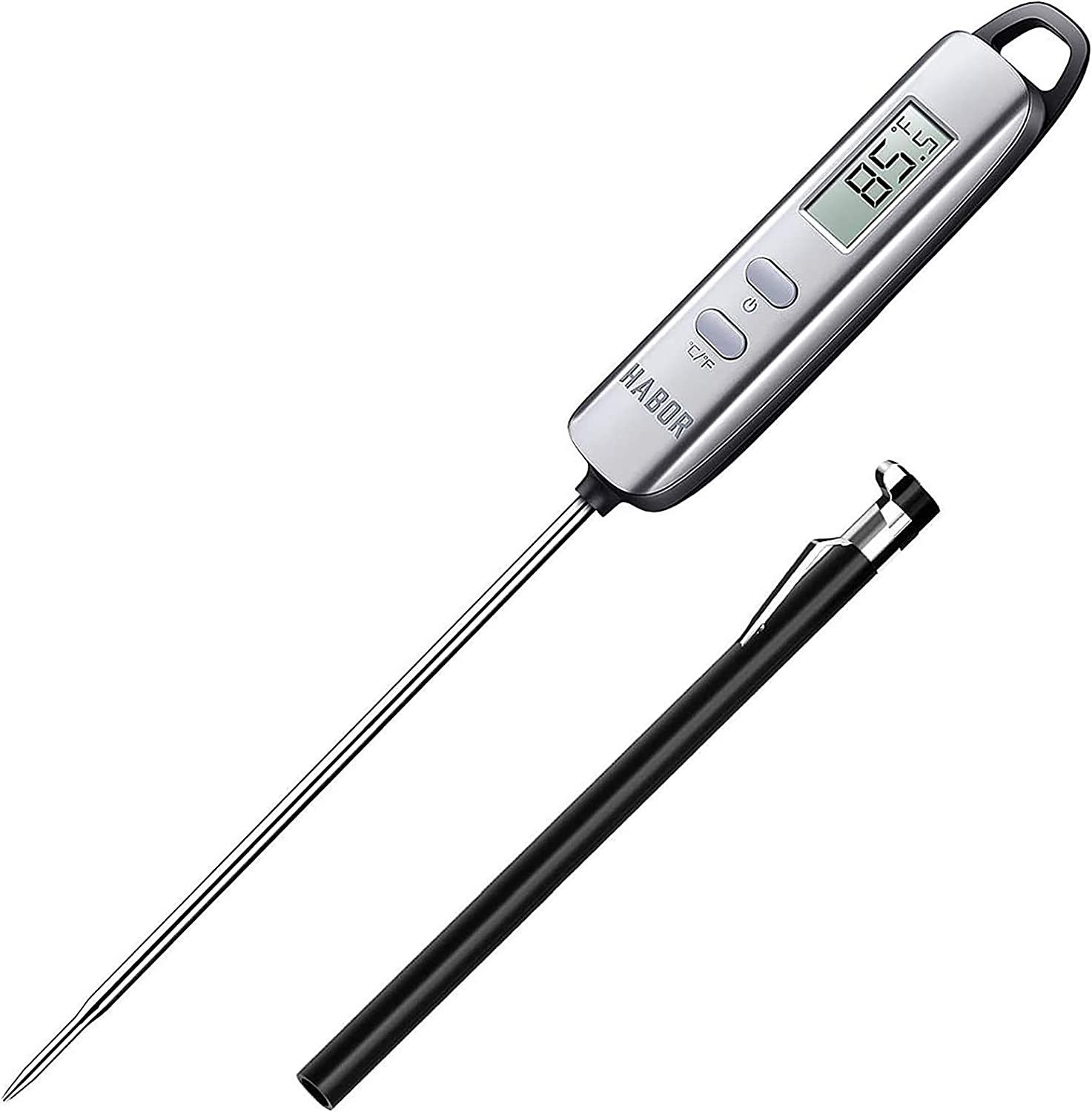 Habor 022 Meat Thermometer, Instant Read Thermometer Digital Cooking Thermometer, Candy Thermometer with Super Long Probe for Kitchen BBQ Grill Smoker Meat Oil Milk Yogurt Temperature: Kitchen & Dining