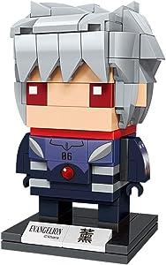 KEEPPLEY Neon Genesis Evangelion Kaworu Nagisa Figure Set (Bricks Building Kit) Japanese Anime Q Posket Evangelion EVA 3D Model kit Collectible Construction Toy