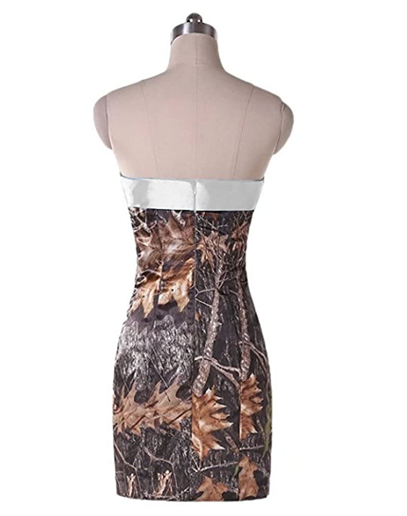 f478cde22741b Women's 2017 Short Camo Prom Cocktail Dresses Camouflage Bridesmaid Gowns -  Multi -: Amazon.co.uk: Clothing