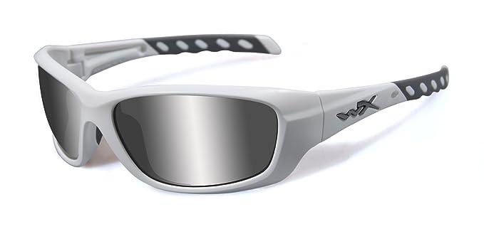 a9acd58a61 Wiley X Men s Gravity Grey Silver Flash Matte White Sunglasses White One  Size