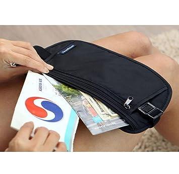 ZYT Carteras Finas de auspicios al Aire Libre. Viajar Carteras Hombres Invisibles Cerca Deporte Ejecuta Paquetes de teléfono de Pasaporte b: Amazon.es: ...