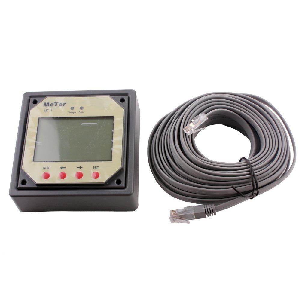 Lensun/® MT-1/Distance M/ètre /écran LCD Moniteur pour 10/A 20/A R/égulateur de charge solaire double batterie