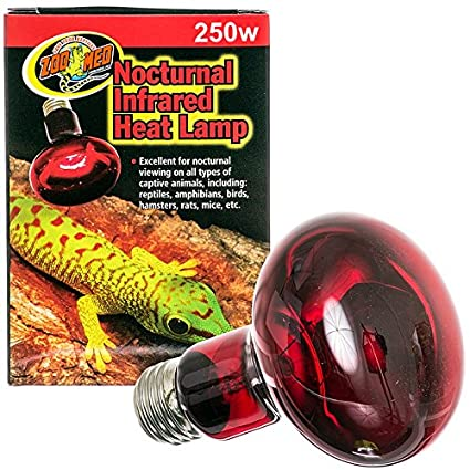 Zoo Med Nocturnal Infrared Incandescent Heat Lamp 250 Watts