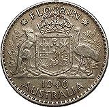 1940 AUSTRALIA under King George VI of United Kingdom AR Florin Coin i53633