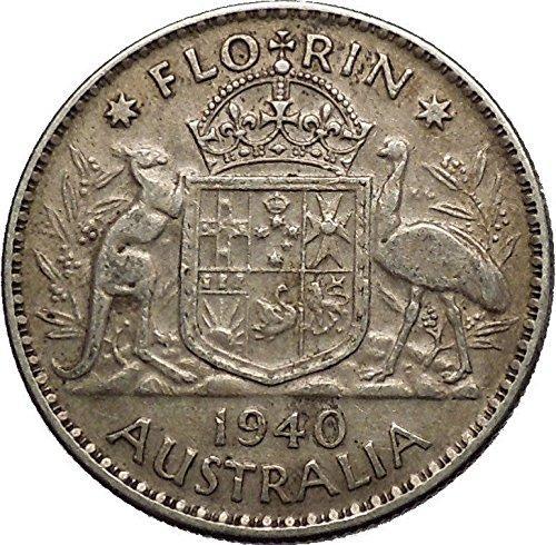 King George Vi Head (1940 AUSTRALIA under King George VI of United Kingdom AR Florin Coin i53633)