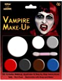 HALLOWEEN MAKEUP MAKE-UP FACE PAINT ZOMBIE VAMPIRE WITCH DEVIL RED WHITE BLACK [Vampire Make up,]