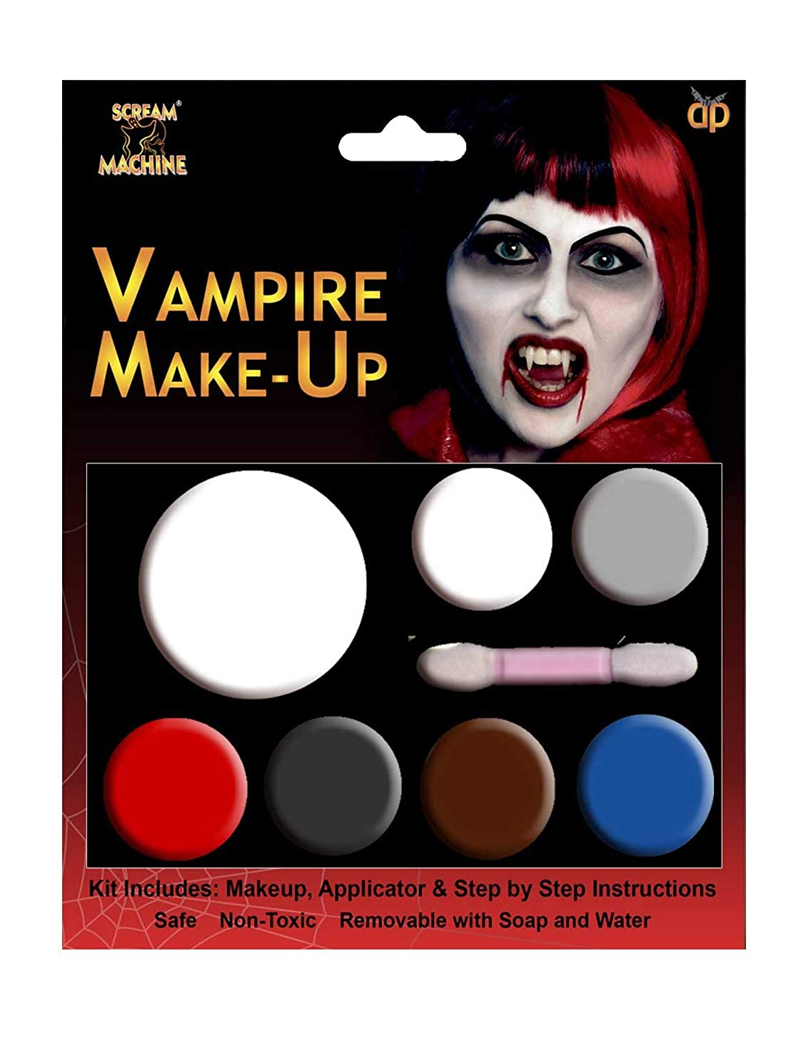 Halloween Makeup Devil.Halloween Makeup Make Up Face Paint Zombie Vampire Witch Devil Red White Black