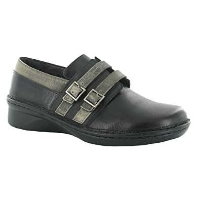 NAOT Women's Celesta Oxfords, Black Leather, Polyurethane, Cork, Latex,  Suede,