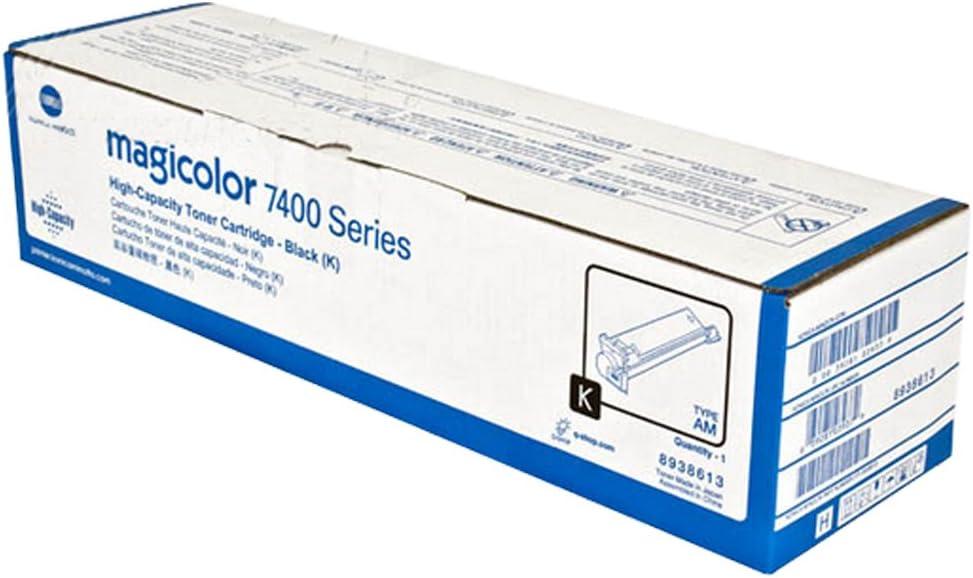 Konica Minolta 8938613 Black Toner Cartridge For Magicolor 7450 Printer Laser 15000 Page Black