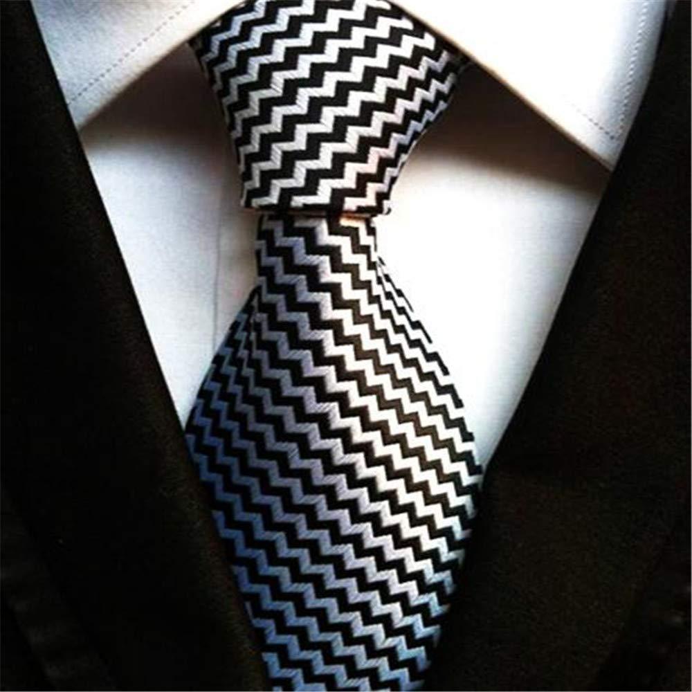 XJIUER corbata Diseño único Poliéster Seda 8cm Final Moda Hombre ...
