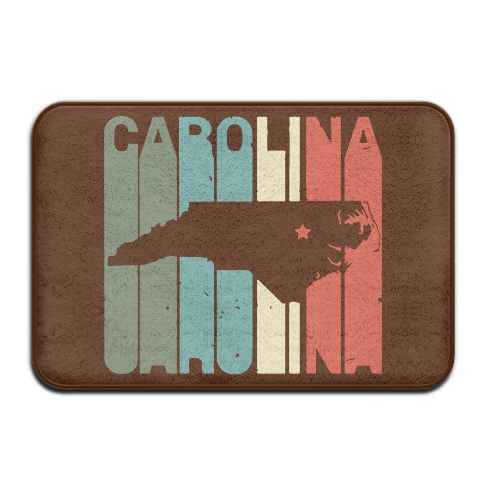 Vintage Carolina North Carolina Home Antislip Outdoor Rug Pet Feeding Mat