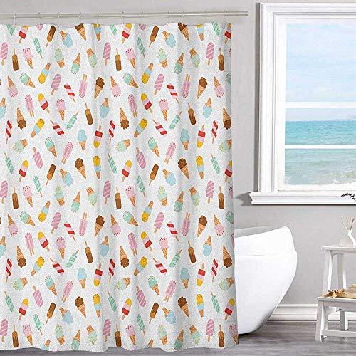 MKOK White Shower Curtain 70