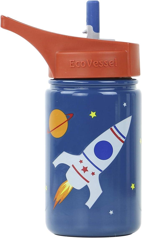 EcoVessel Scout niños Botella de Agua de Acero Inoxidable Deporte ...