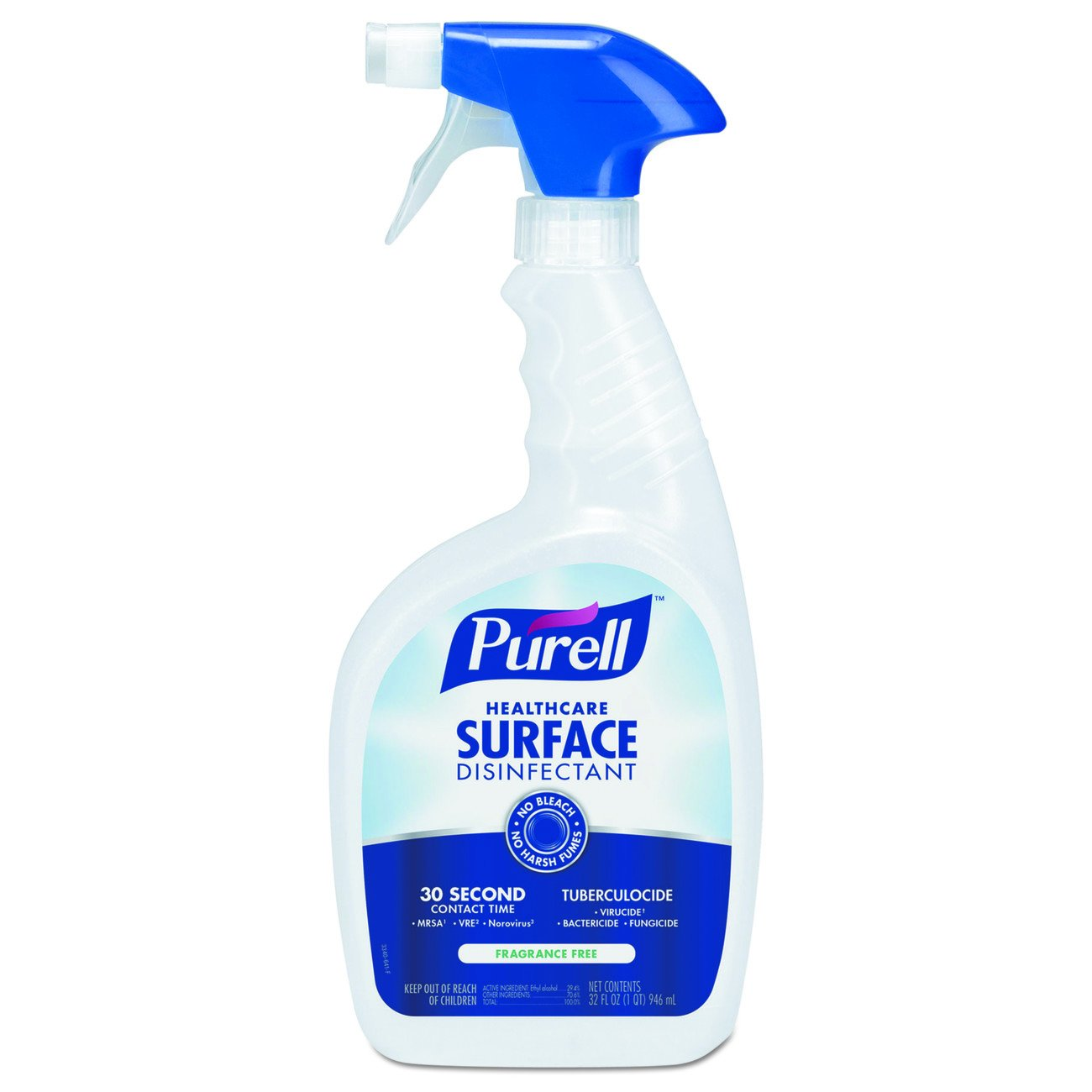 PURELL Healthcare Surface Disinfectant Spray 32 oz – Kills Norovirus in 30 Seconds, Fragrance Free, RTU (Pack of 12)