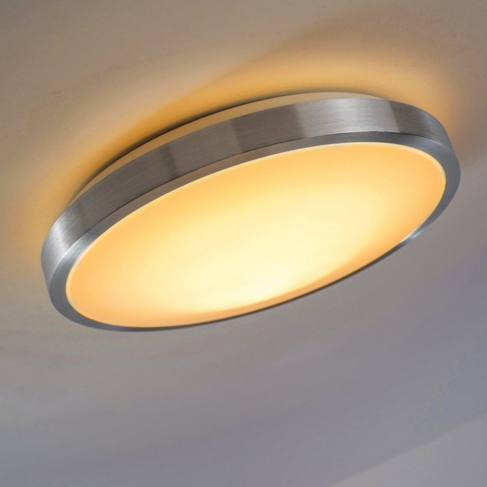 LED Deckenlampe Wutach rund – LED Deckenleuchte aus Alu+Poly ...