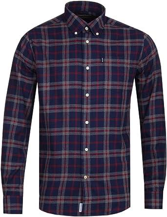 Barbour BACAM2378-MSH Highland Chek 12 - Camisa de Franela de algodón 100% para Hombre, Color Azul: Amazon.es: Ropa y accesorios