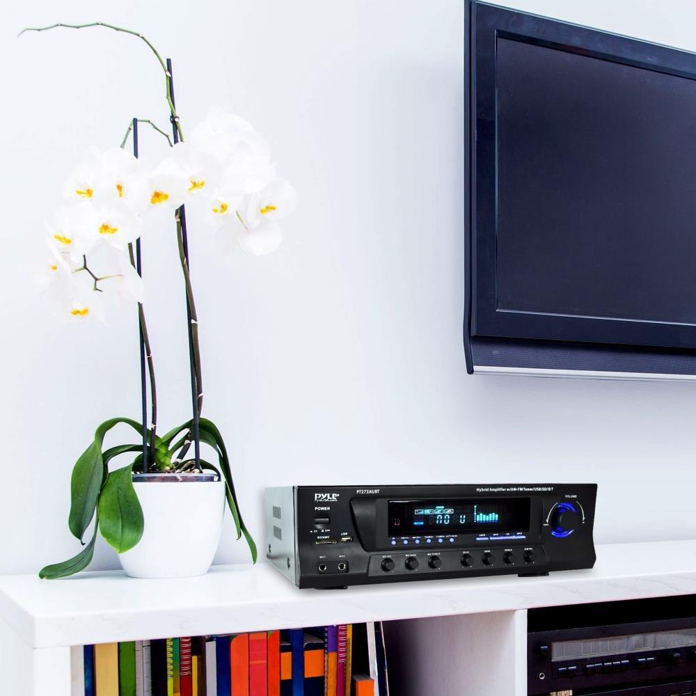300W 4 Channel Home Sound Around Wireless Bluetooth Audio Power Amplifier