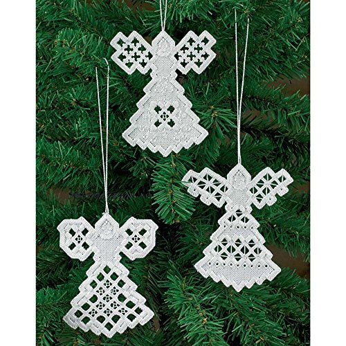 Angel Trio Ornaments - Permin Angel Ornaments Hardanger Kit