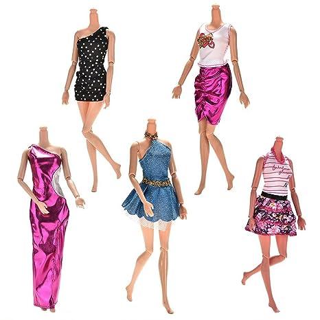 BESTIM INCUK® 5 Piezas/set Muñeca Ropa hecha a mano Vestido fiesta vestido ropa