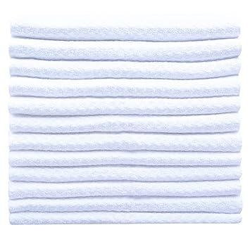 Sinland Paño de microfibra para limpieza con diseño en ondas paños de cocina toallas de cocina trapos de cocina toallas de mano(Blanco,30x30cm x 12 ...