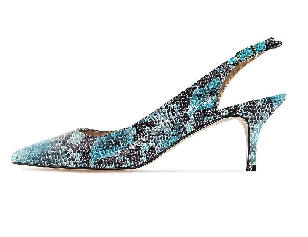 Soireelady - Scarpe Col Tacco Tacco Tacco - Tacco Gattino - con cinturino dietro la caviglia - 6.5CM X-Blue dc1a0c