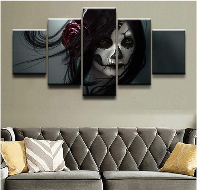 Acheter tableau peinture tete de mort online 14