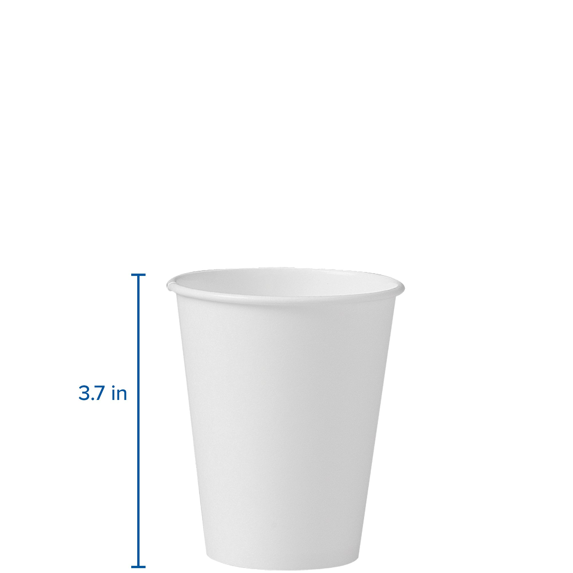 Solo 378W-2050 8 oz White SSP Paper Hot Cup (Case of 1000) by Solo Foodservice (Image #3)