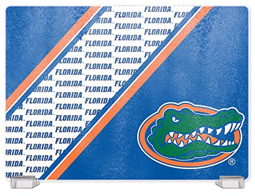 - NCAA Florida Gators Tempered Glass Cutting Board with Display Stand