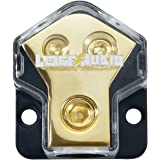 LEIGESAUDIO 0/2/4 Gauge in 4/8 Gauge Out 2 Way Amp Copper Power Distribution Block for Car Audio Splitter