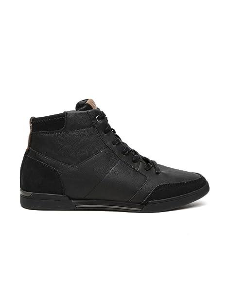 Aldo Men Black Solid High-Tops Sneakers