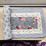 Ustide Rustic Floral Quilted Cotton Rug Pad Washable Area Rug For Nursery Room 2ftx5ft Review